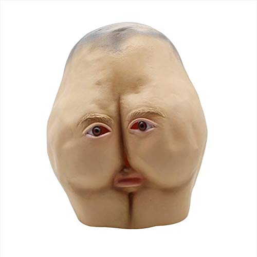 V-win Halloween Mask Personalized Funny Ass Latex Masks Halloween Adult Dance Horror Head Buns Party Decorating Funny Full Face -