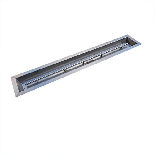 Stanbroil Stainless Steel Linear Trough Drop-in Fire Pit Pan and Burner 60 by 6-Inch