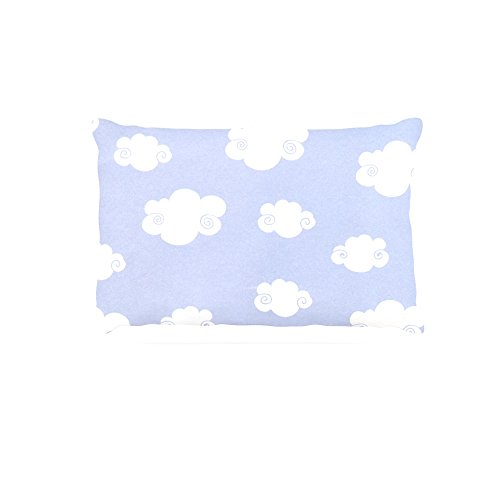 30 by 40\ Kess InHouse Heidi Jennings Happy Clouds  White bluee Fleece Dog Bed, 30 by 40