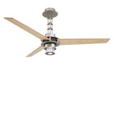 Minka Aire F529-L-BS/CH One-Light Brushed Steel/Chrome Ceiling Fan