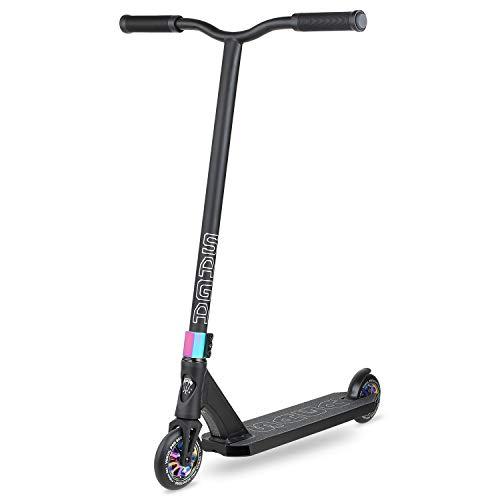 VOKUL SAGA Pro Scooter - Stunt Scooter - Patinete de patada estilo libre para jóvenes y adultos Scooters de truco BMX intermedios y principiantes para niños de 8 años - Ruedas de scooter de 110 mm, puños de colores, duraderos, suaves
