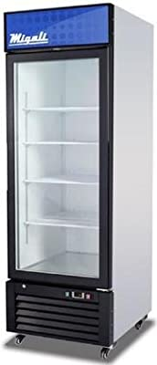 """Migali C-23RM Competitor Series Refrigerator Merchandiser, 27"""" W, 23.0 cu. ft. Capacity, 1 Hinged Glass Door, White Sides/White Interior/Black Front"""