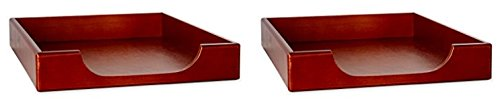 Rolodex Wood Tones Collection Desk Tray, Legal-Size, Mahogany (2 Pack)