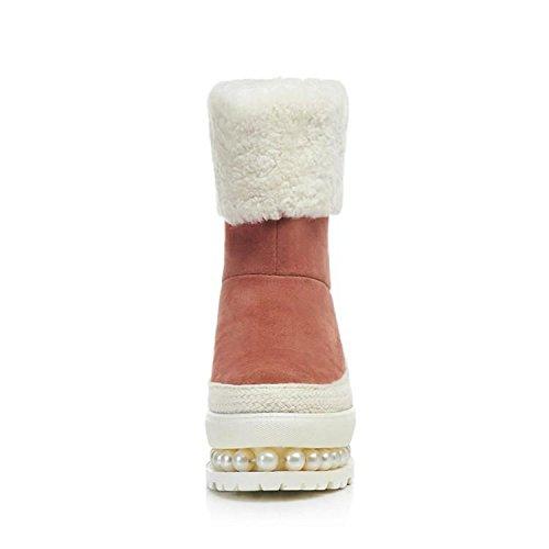 Stivali Di Bovina Flangia Inverno Rotonde 's Perline Nsxz Spessore Mila Rosa Doposci Donne Centimetri 90 Di Donne Inferiore 16 qYORd