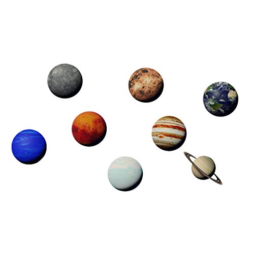 uaswguDFS Wall Sticker Art Sticker - Solar System Planet Combination Pattern Removable Decorative Wall Sticker Mural DIY Wall Vinyl Decal Background Sticker for Background Sticker ()