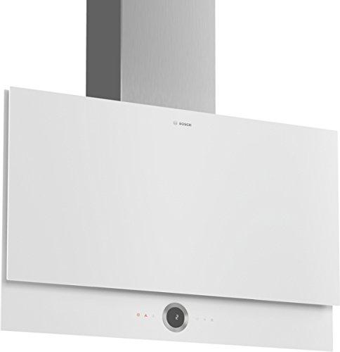 Bosch Serie 8 DWF97RV20 Wall-mounted cooker hood Acero inoxidable, Color blanco 730m³ /h A - Campana (730 m³ /h, Canalizado/Recirculació n, A, A, B, 57 dB) Color blanco 730m³/h A - Campana (730 m³/h Canalizado/Recirculación