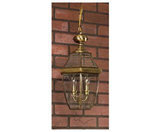 Quoizel NY1179A  Newbury 3-Light Outdoor Lantern, Antique Brass by Quoizel (Image #1)