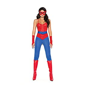 - 31b3miKANhL - Female Spider Super Hero Halloween Roleplay Costume 5pc Set