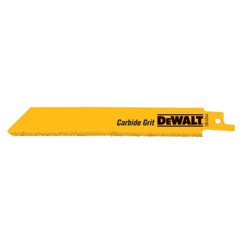 DeWalt DW4843 8 Carbide-coated Reciprocating Saw Blade (5-Pk.) (Reciprocating Diamond Saw Blades)