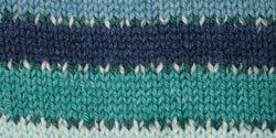 Patons Kroy Socks Yarn, Cyan Stripes
