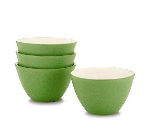 (Noritake 4-Inch Colorwave Bowl, Mini, Apple Green, Set of 4)