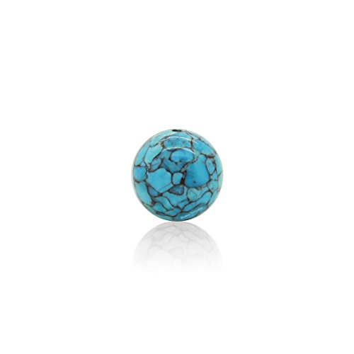 Bluejoy Genuine Natural American Turquoise Mosaic Bead Copper Infused (16.5mm Round)