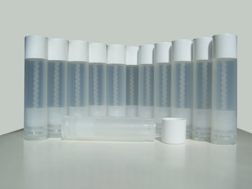 Lip Balm Empty Container Tubes 3/16 Oz (5.5ml), Pack of 12; Natural (translucent) (12 Balms)