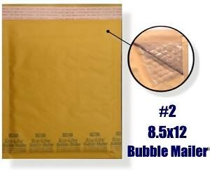 #2 8.5x12'' KRAFT BUBBLE M PADDED ENVELOPES-100 qty by ESUPPLYSTORE