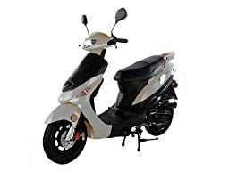 Taotao 50cc Gas Street Legal Scooter ATM50-A1 Scooter White