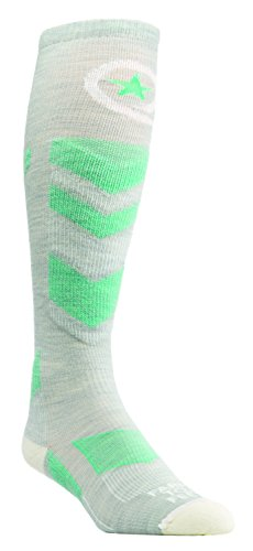 Farm 2 Feet Waitsfield - Lightweight Ski Chevron Snow Sports (Women'S) comes with a Helicase sock ring; Size: W-L - Silver/Ivory