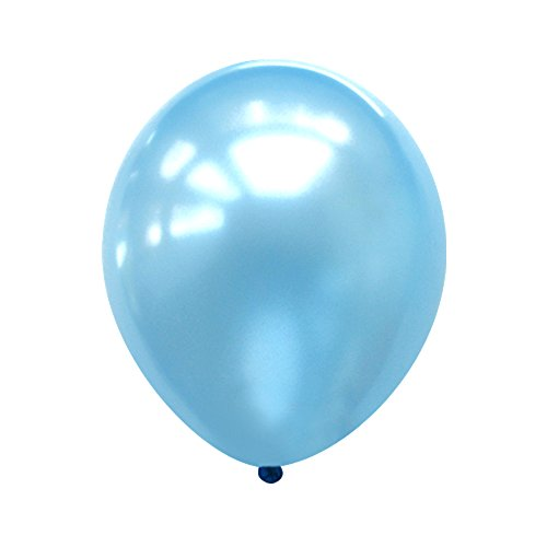 Neo LOONS 5 Pearl Light Blue Premium Latex Balloons -- Great for Kids , Adult Birthdays, Weddings , Receptions, Baby Showers, Water Fights, or Any Celebration, Pack of 100