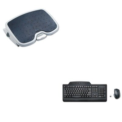 KITKMW56146KMW72408 - Value Kit - Kensington Pro Fit Wireless Media Desktop Set (KMW72408) and Kensington Solemate Plus Adjustable Footrest (KMW56146)