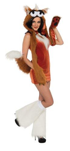 [Rubie's Costume Deluxe One Hot Fox and Headpiece, Multicolor, Medium] (Fox Costumes Kit)