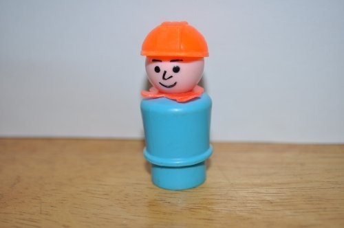 Used, Vintage Little People Construction Worker with Orange for sale  Delivered anywhere in USA