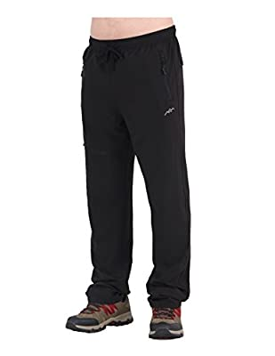 Trailside Supply Co. Men's Light Weight Stretch Elastic-Waist Drawstring Track Running Gym Pants