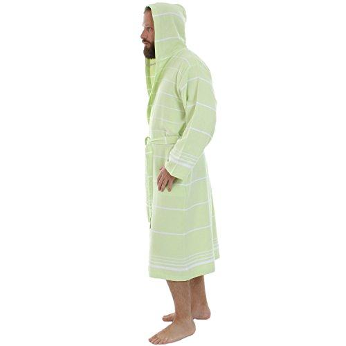 Cacala Hooded Turkish Bathrobe – Comfortable 100% Cotton Turkish Bath Towel  Fabric – Bright ... 3b213dd80