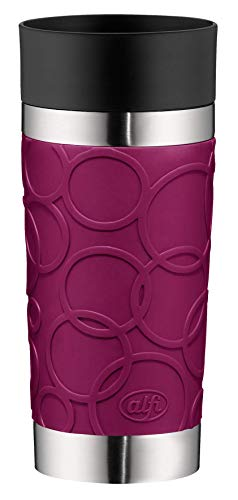 Alfi Thermos Cup, Stainless Steel, Stainless Steel, Blackcurrant, 8,2 x 8,2 x 19,0 cm