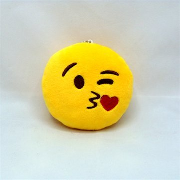 WX-396 4 Inch Toy Novelty Small Pillow Smiley Face Soft Plush Toys Key Bag Phone Chain - Pillows & Cushions Funny Pillows - (17) - 1 x 4 Inch Toy Novelty Emoji Small Pillow