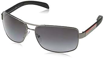 Prada Linea Rossa Men's PS 54IS Sunglasses Gunmetal Demi Shiny/Polar Grey Gradient 65mm