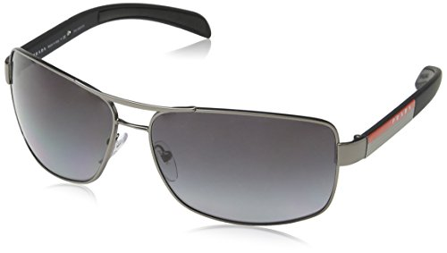 Prada Linea Rosa Sunglasses PS54IS 7CQ5W1-65 - Gunmetal Frame, Polar Grey - Rosa Prada