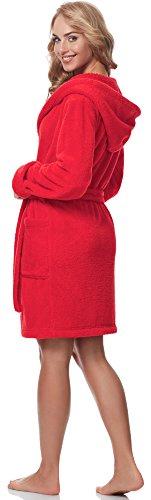 Style 1GN2S Accappatoio Rosso Donna Cappuccio con Merry qw7gPn1xdq