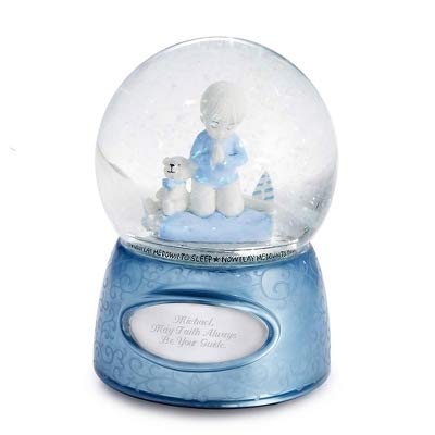 Things Remembered Personalized Praying Boy Musical Snow Globe with Engraving Included by Things Remembered