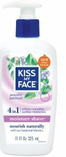 Kiss My Face 4in1 Moisture Shave, Peaceful Patchouli 11 Fl Oz(2 Pack)