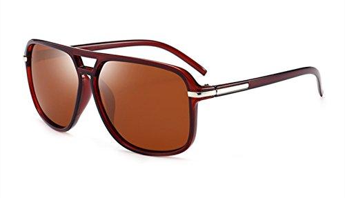 Brown De Fashion Driving Metal Gafas Sol Polarizadas MYLEDI Material Brown Hombre TAC vFWHfqw7