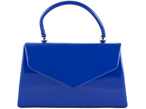 Color Neon The in pelle Borsa Designer Borse Frizione Hard Pochette verniciata New Girly Piccola Box Celebrity Blu Yellow Nude qt1wn