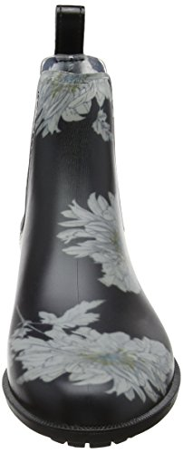 Joules Womens Rockingham Rain Boot Black Peony NwQ9fz2K