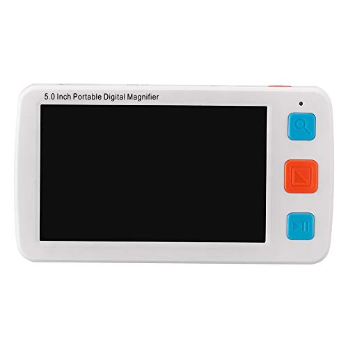 XGLL 5.0 Inch Handheld Portable Digital Magnifier Electronic Reading Aid 4X~32X Magnification, Support Take Photo, TV Output,White (Best Ereader For Macular Degeneration)