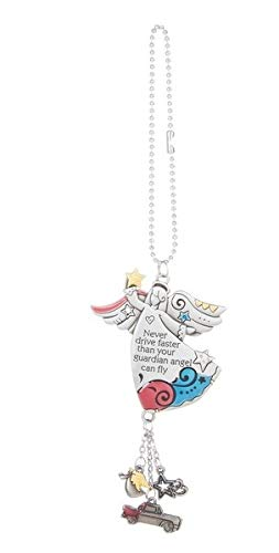 Never Drive Faster Than Your Guardian Angel Can Fly Colorful Ornament By Ganz