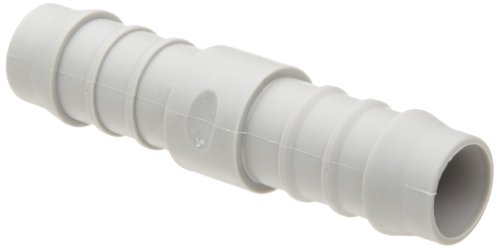 "Tefen Nylon 66 Hose Fitting, Coupling, Gray, 3/4"" Hose ID (Pack of 10)"