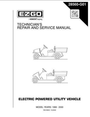 amazon com ezgo 28560g01 1999 2000 technician s repair and service rh amazon com ezgo workhorse shop manual ezgo workhorse service manual