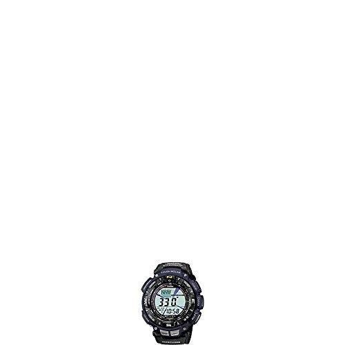 Casio Mens Pathfinder Triple Sensor Multi-Function Sport Watch Blue Nylon Strap