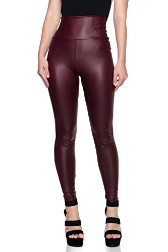 Women's J2 Love Faux Leather High Waist Leggings, Large, ()