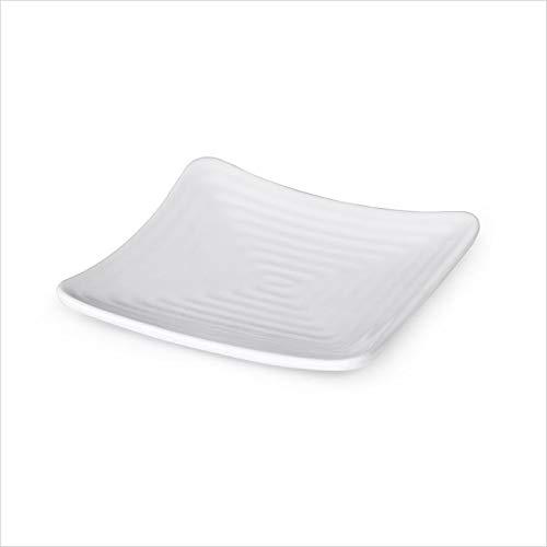 (OKSLO Milano 6 inch square plate white melamine/case of 12)