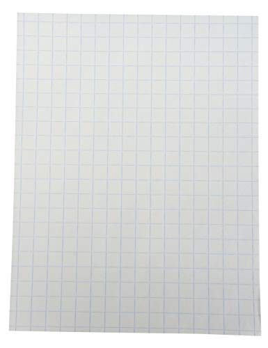 School Smart Double Sided Graph Paper, 8-1/2 x 11 Inches, 1/2 Inch Rule, White, Pack of - Cm Paper Grid 1