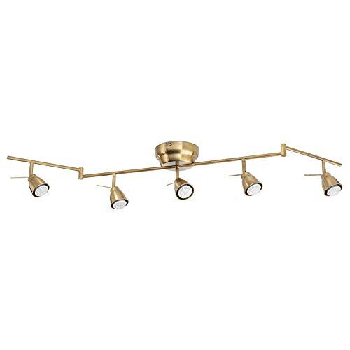 Barometer Ceiling Track, 5-Spots, Brass-Colour
