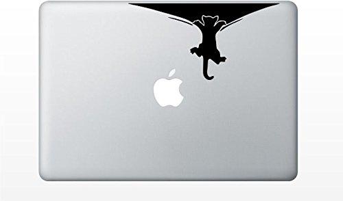 Macbook cat climbing decal sticker pro air 11 13 15 17