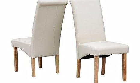 Sedie Schienale Alto Legno : Folkbury set di sedie per sala da pranzo in pelle pu con