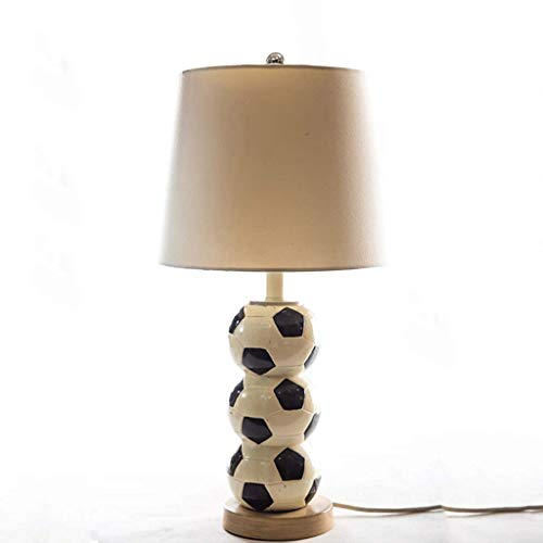 Football Ceramic Table Lamp Modern Decoration Fashion Cloth Pottery and Porcelain Base Desk Light