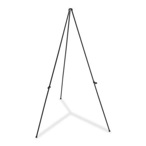 Wholesale CASE of 5 - Lorell Heavy-duty Adjustable Display Folding Easel-Folding Easel, Adjustable Display Holder, 63'' H, Black