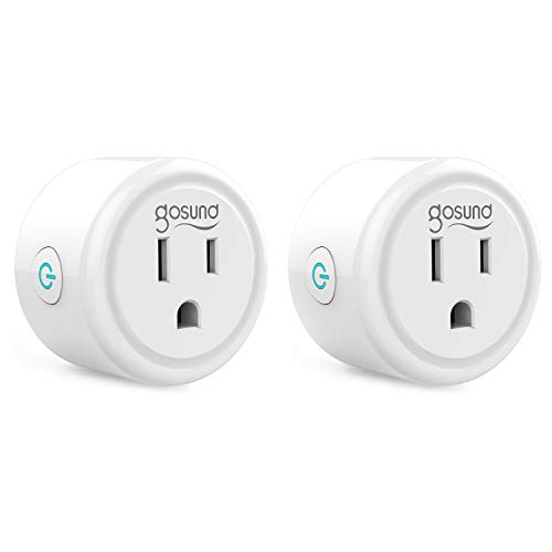 Mini Smart Plug, WiFi Outlet Socket Work with Alexa and Google Home, Remote Control, No Hub Required, 2.4G WiFi Only Etl…